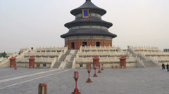 Tilt to the Temple of Heaven Stock Footage