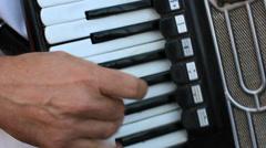 Man playing accordian Stock Footage
