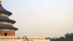 Pan to the Temple of Heaven Stock Footage