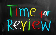 Time for review concept Stock Illustration