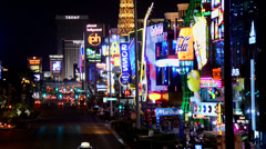 The Las Vegas Strip at Night Stock Footage