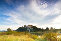 benedictine abbey in tyniec near cracow, poland - stock photo