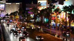 Stock Video Footage of The Las Vegas Strip at Night