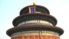 Close up tilt down from the Temple of Heaven Stock Footage
