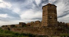 Citadel on the dniester estuary Stock Photos