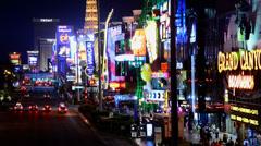 Time Lapse of the Las Vegas Strip at Night Stock Footage