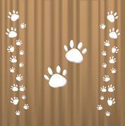 Trace cats - stock illustration
