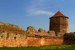 old fortress in town bilhorod-dnistrovski odessa region - stock photo