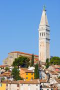 Architecture of rovinj, croatia. istria touristic attraction Stock Photos