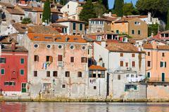 architecture of rovinj, croatia. istria touristic attraction - stock photo