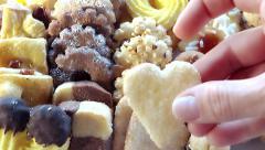 Assorted tea biscuits Stock Footage
