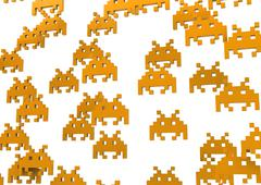 space invaders - stock illustration
