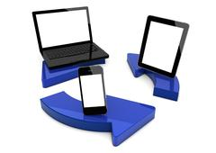 Circle devices Stock Illustration