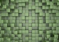 green squares background - stock illustration