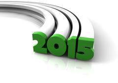 2015 - stock illustration