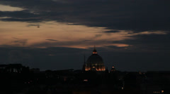 Stock Video Footage of St Peters Dome at dusk