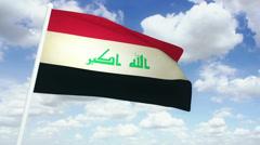 Flag Iraq 02 Stock Footage