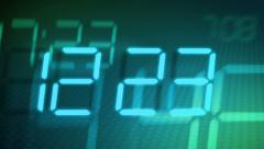 Accelerated digital clock Stock Footage