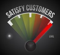 Satisfy customers level measure meter Stock Illustration