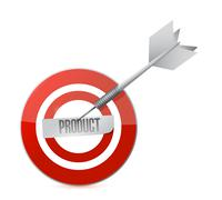 Stock Illustration of product target and dart illustration design