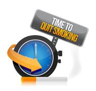 Stock Illustration of time to quit smoking watch illustration design