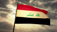Iraq Flag 03 Stock Footage