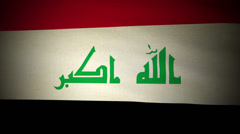 Flag Iraq 04 Stock Footage