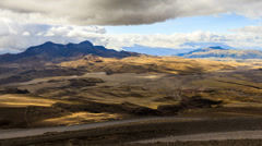 Pasochoa volcano, Ecuadorian Andes, viewed from Cotopaxi refugee, 4800m altitude Stock Footage