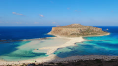 Time lapse clip of shadows and clouds of Balos lagoon Stock Footage