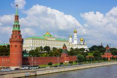 Moscow kremlin embankment - stock photo