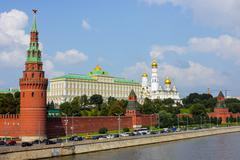 Moscow kremlin embankment Stock Photos