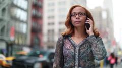 Latin Hispanic Asian woman talking on cellphone iPhone Stock Footage