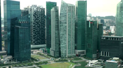 Singapore 042 downtown skyscrapers seen from skypark Stock Footage