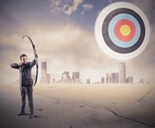 hit the target - stock photo