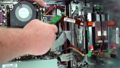 Removing faulty ram from computer Stock Footage