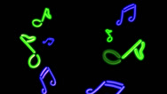 Stock Video Footage of neon lights Music green blue