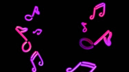 Stock Video Footage of neon lights Music random