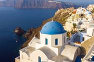 Stock Photo of Church in Oia, Santorini