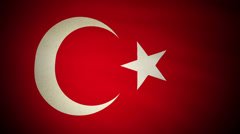 Flag Turkey 04 Stock Footage