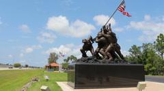 Iwo Jima replica in Cape Coral, Florida - 2 Stock Footage