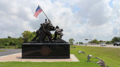 Iwo Jima replica in Cape Coral, Florida - 1 Stock Footage