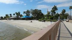 Cape Coral Yacht Club Beach - stock footage