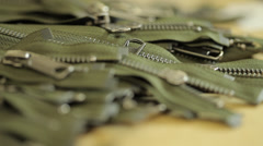 Clothing zippers Stock Footage