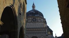 Bergamo Citta Alta Santa Maria Maggiore Church Stock Footage