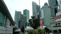 Singapore 054 business towers in downtown financial district Stock Footage