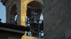 Bergamo Citta Alta Bells stop ringing Stock Footage