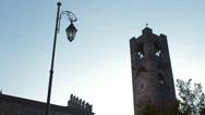 Stock Video Footage of Bergamo Citta Alta clock tower