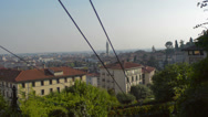 Stock Video Footage of Bergamo city from the Cable car