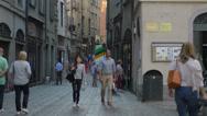 Stock Video Footage of Bergamo Italy tourists editorial