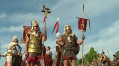 Roman legion 11 Stock Footage
